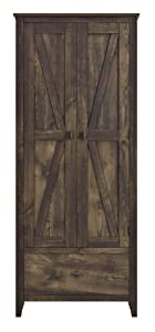 "Ameriwood Home 7533096COM Farmington Wide Storage Cabinet, 30"", Rustic"