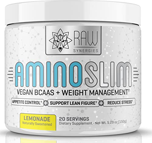 AMINO SLIM – Slimming BCAA Weight Loss Drink For Women, Vegan Amino Acids L-Glutamine Powder for Post Workout Recovery Thyroid Support Appetite Suppressant, Metabolism Booster Stress Relief
