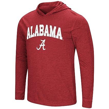 ac7791c44 Colosseum Men s NCAA-Fall Semester-Long Sleeve Hoody Pullover  T-Shirt-Alabama