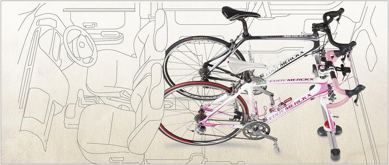 Minoura VERGO-TF2 Interior Car Rack for Bicycles Brushed Silver