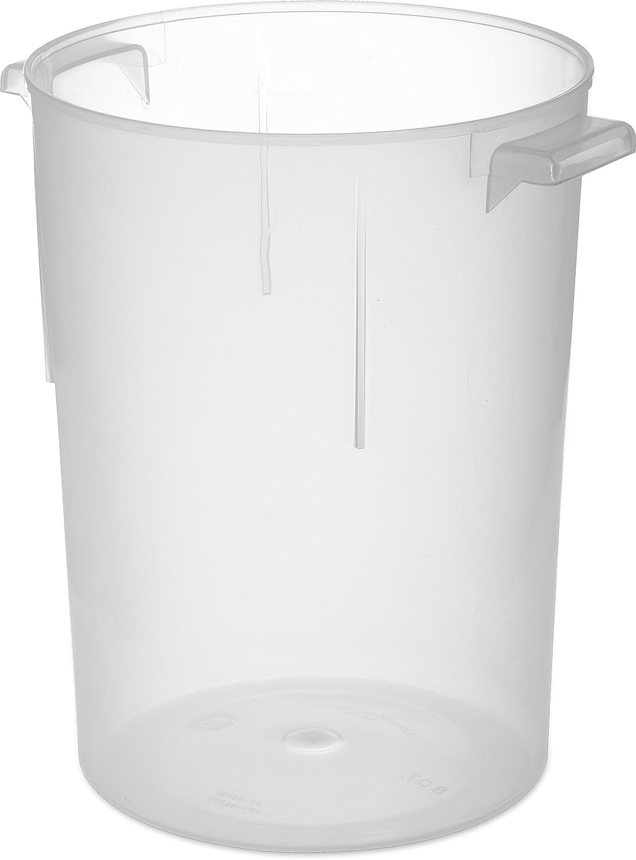Carlisle 080530 BPA-Free Bains Marie Round Storage Container, 8 Quart, Clear