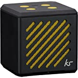KitSound Tilt Mini Bluetooth Speaker with Built-In Microphone Compatible with Compatible with iPod, iPad, iPhone, Samsug and Android devices- Black
