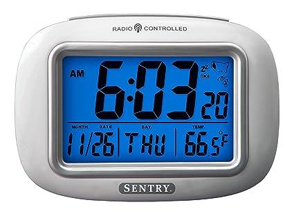 amazon com sentry atc30 radio controlled atomic weather alarm clock rh amazon com Setting a Skyscan Atomic Clock Sentry Radio Controlled Clock Manual
