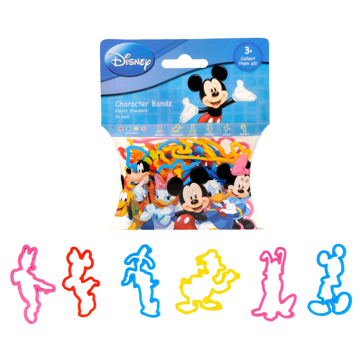 Pack Of 24 Foco WBDSFANMAF1 Disney Mickey and Friends Mickey and Friends Logo Bandz