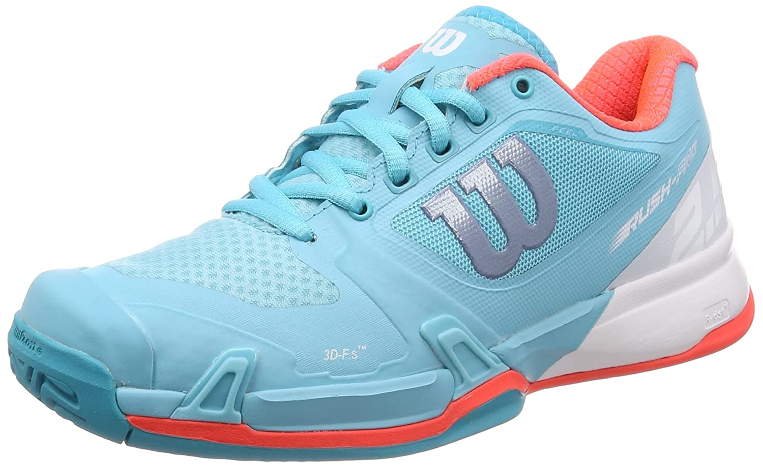 Wilson Rush Pro 2.5 Womens Tennis Shoe B075YMWR98 8.5 B(M) US|Blue Curacao/White/Fiery Coral