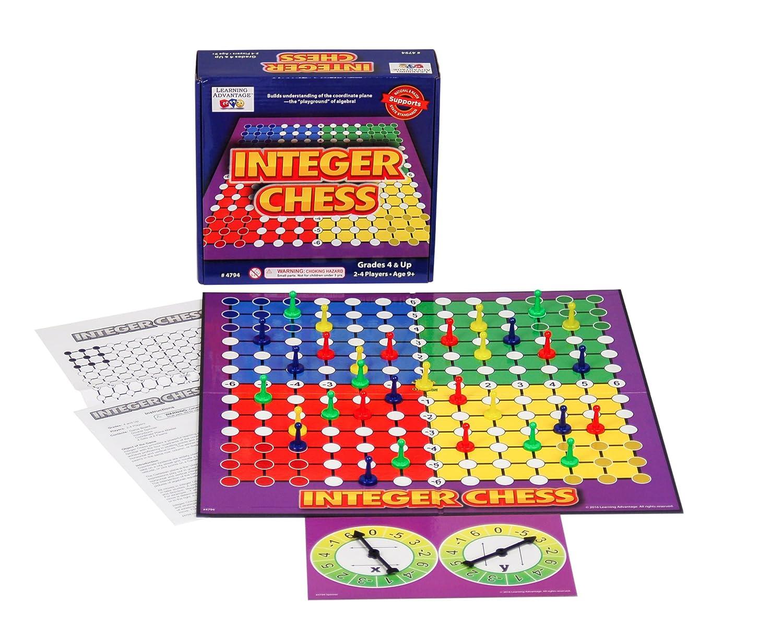 LEARNING ADVANTAGE 4794 Integer Chess Game, Grade: 3, 16.5