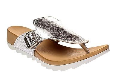 Maca Kitzbühl 2212 - Damen Schuhe Pantoletten - Silver-s, Größe:40 EU