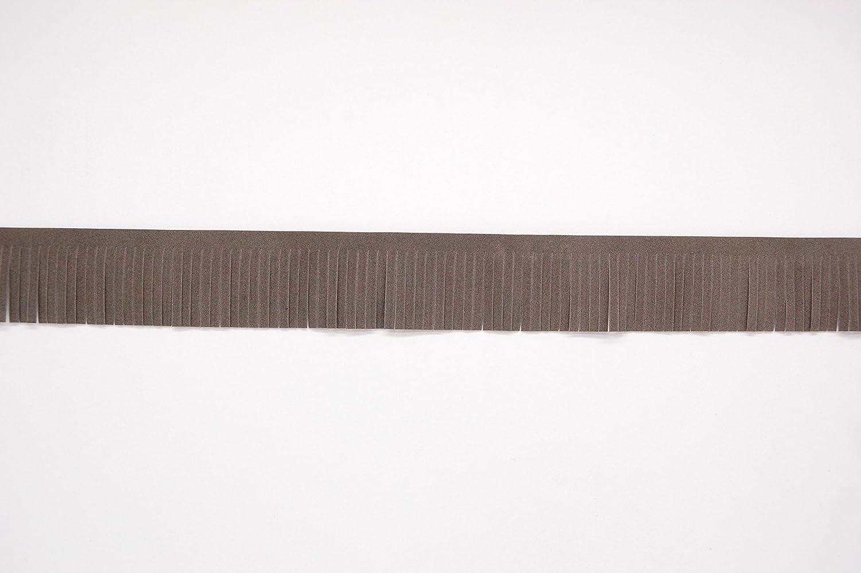 Faux Suede Leather Tassel Cut Fringe Trimming, Cowboy Western Fringe, 5cm Wide (BLACK) MNJ