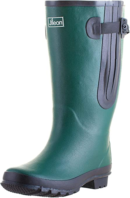 Jileon Extra Wide Calf Women Rain Boots