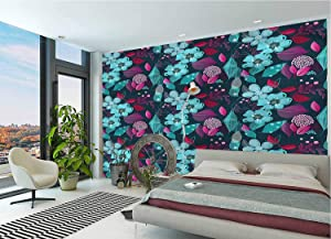 LCGGDB Flower Wall Stickers Murals,Fantasy Garden Blossoms Paperhanging Wallpaper for Office Livingroom Girls Bedroom Family Wall Decals-118x83 Inch