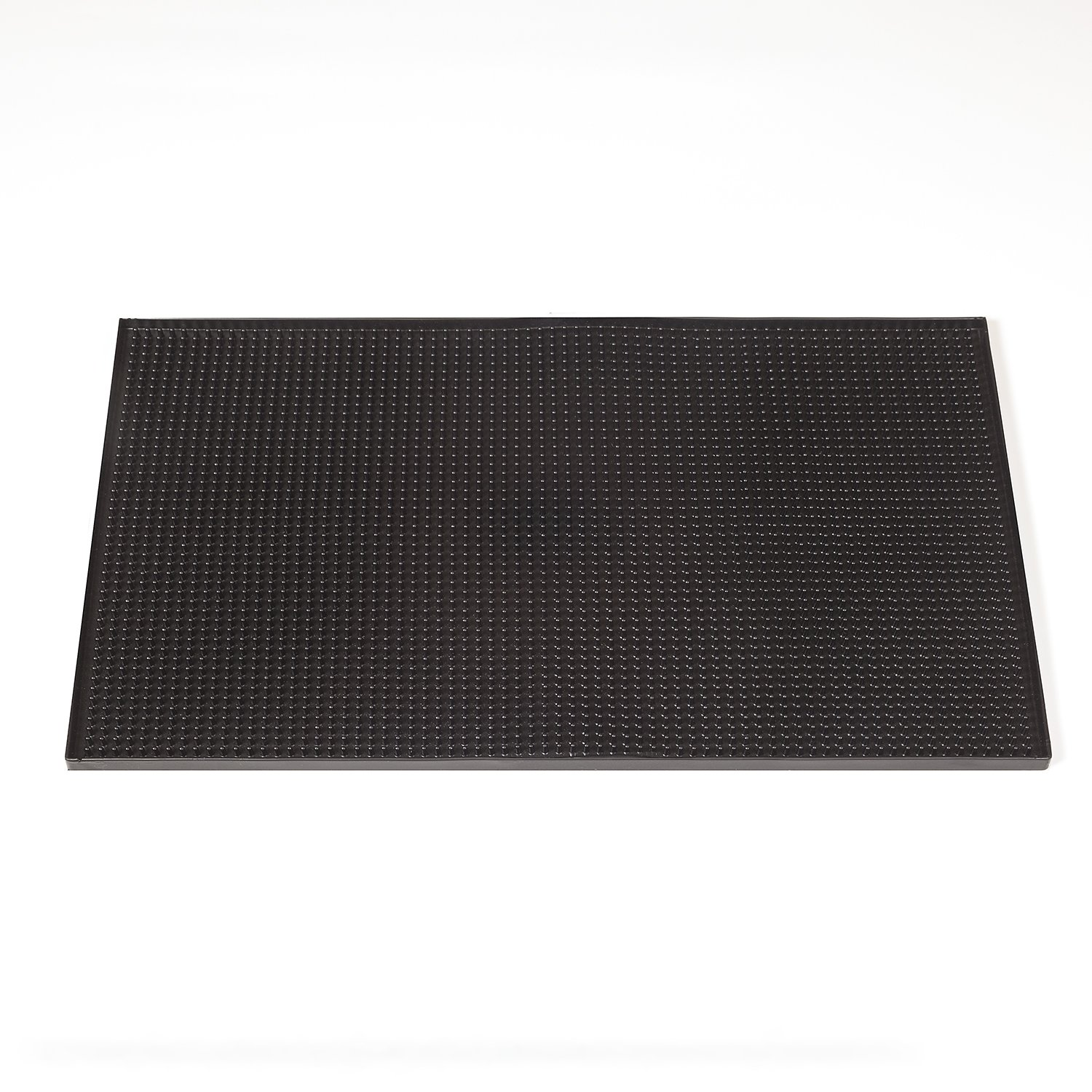 Professional Bar and Restaurant Service Mat To Protect Your Glass and Serving Area Easy To Rinse 12x18 Inch Prevents Water Marks and Spillage Black Includes Polishing Cloth Rubber Bar Mat Screaming Emu Marketing