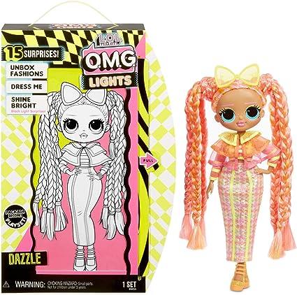 Amazon Com L O L Surprise O M G Lights Dazzle Fashion Doll With 15 Surprises Toys Games