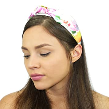 Amazon.com   Silk Top Knot Headband (Tie Dye Floral)   Beauty 1cedaa7829f