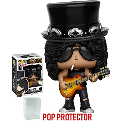 Funko Pop! Rocks: Guns N' Roses Slash Vinyl Figure (Bundled with Pop BOX PROTECTOR CASE): Toys & Games