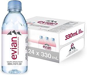 evian Natural Spring Water, Premium Water Mini Bottles