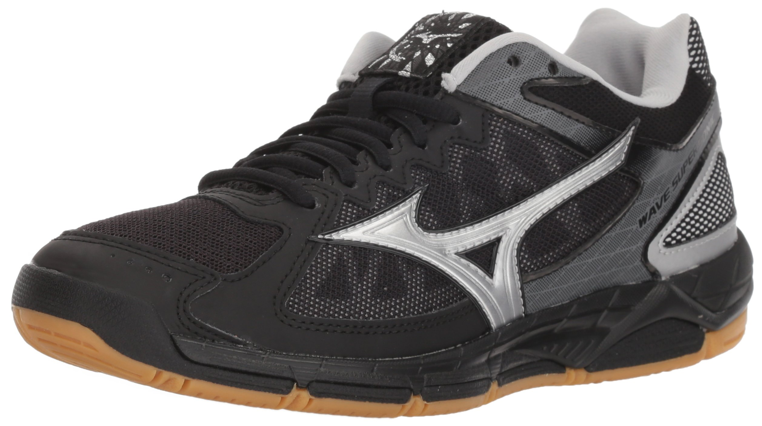 Mizuno Women's Wave Supersonic Volleyball Shoe, Black/Silver, Women's 7.5 B US