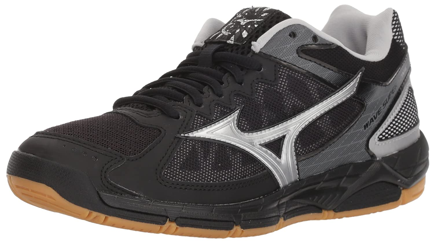 Black Silver Mizuno Women's Wave Supersonic Volleyball shoes