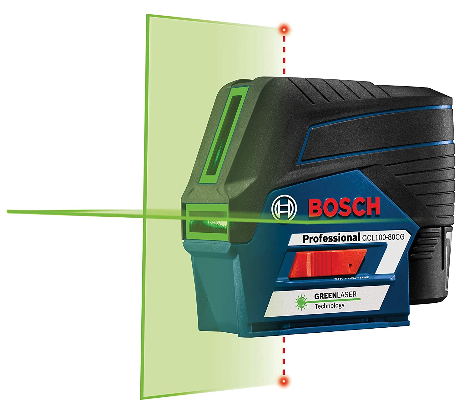 Bosch GCL100-80CG 12V Green-Beam Cross-Line Laser Level with Plumb Points