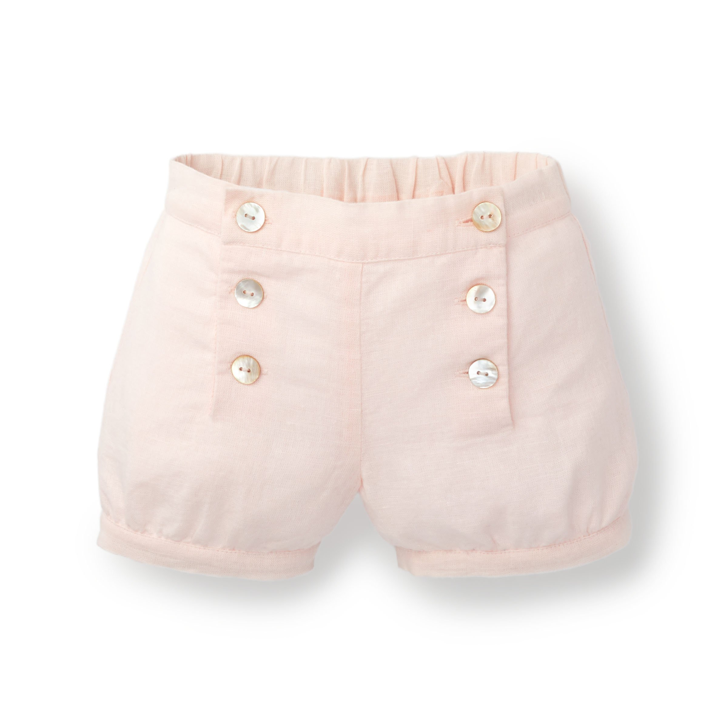 Hope & Henry Baby Girls Light Pink Banded Short Made with Organic Cotton