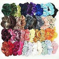 40 bandas elásticas para el pelo de terciopelo para mujeres o niñas, 40 colores surtidos