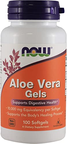 Aloe Vera 10000 mg 100 Softgels Pack of 2