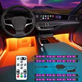 Govee Interior Car Lights with Remote and Control Box, Upgraded 2-in-1 Design Interior Car LED Lights with 32 Colors, 48…