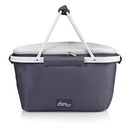 Picnic Time Market Basket Tote, Aviano Collection