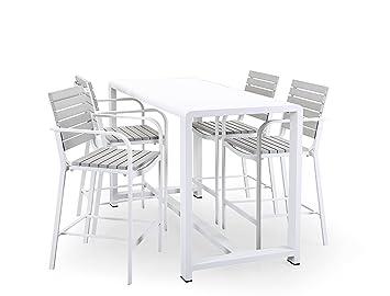 Sedie Alluminio E Legno.Domus Stile Modigliani Set Tavolo E Sedie Alluminio E Legno