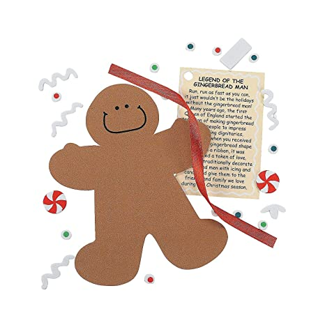 amazon com legend of the gingerbread man foam ornament craft kit makes 12 arts crafts sewing
