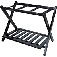 Incroyable Casual Home Luggage Rack With Shelf, Natural