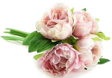 Bouquet Sposa Peonie E Ortensie.Fiveseasonstuff Bouquet Di Fiori Artificiale Con Peonie E