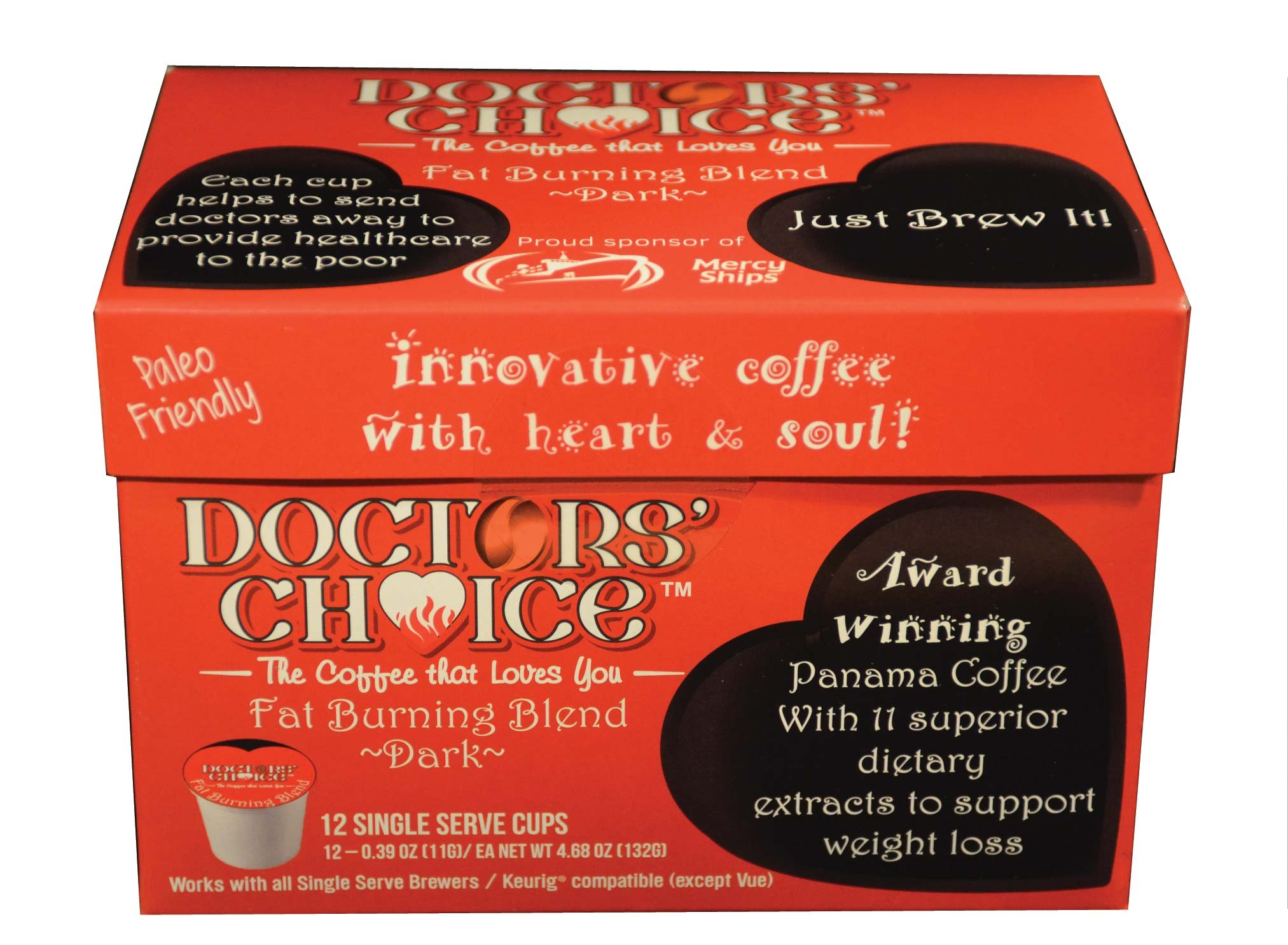 Doctors Choice Detoxifying & Antioxidant ''Fat Burning Coffee'' (12 Count) by Doctors Choice