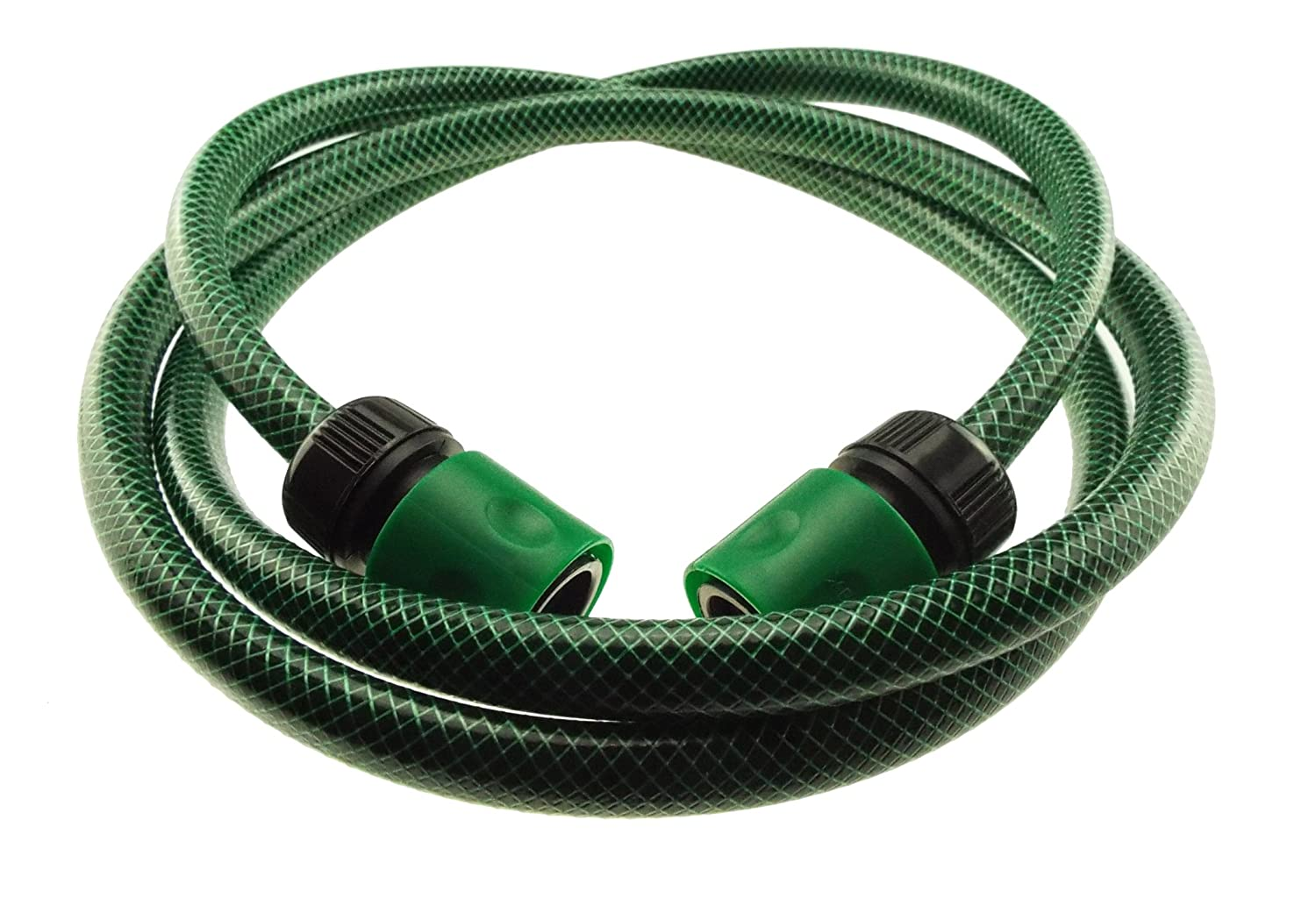 GREEN HOSE PIPE CONNECTION KIT TO JOIN YOUR HOSE REEL TO YOUR GARDEN TAP 2M LENGTH OF PIPE 2 CONNECTORS