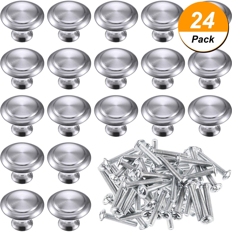 24 Packung Silber Kabinett Knöpfe Küche Runde Schublade Kommode ...