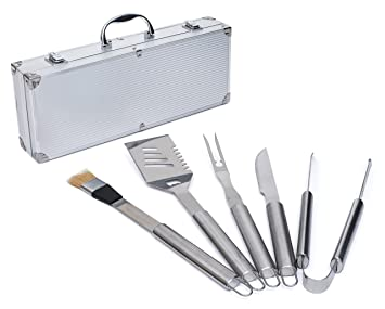 complete bbq grill tools kit barbecue tool set w case utensils accessories for - Grilling Tools