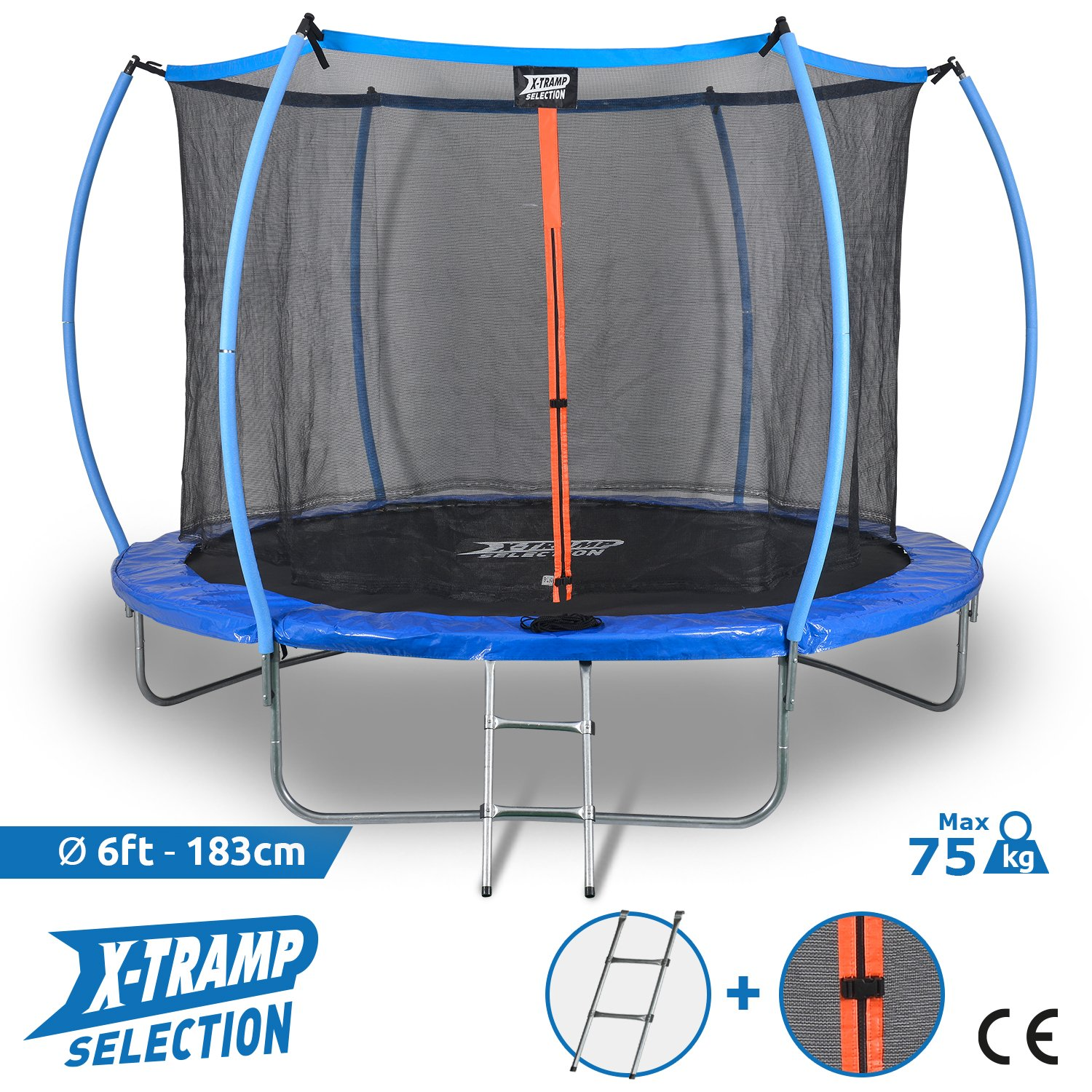 X-TRAMP Outdoor Trampolin Selection 183 cm 6 FT CE Standard 5 Jahre Garantie