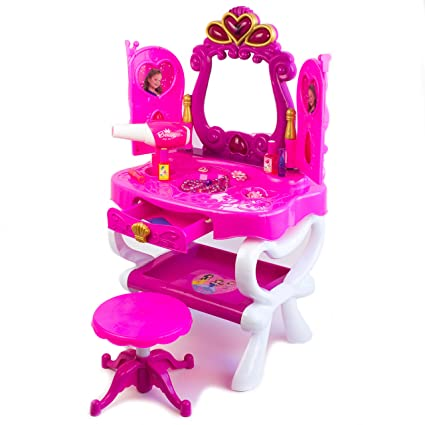 The Girlu0027s Favorite Magic Dressing Table Beauty Play Set U2013 Toy Dressing  Table Mirror For Kids