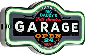 Big Daddy's Garage - Reproduction Vintage Advertising Marquee Sign - Battery Powered LED Neon Style Light - 17 x 10 x 3 Inches