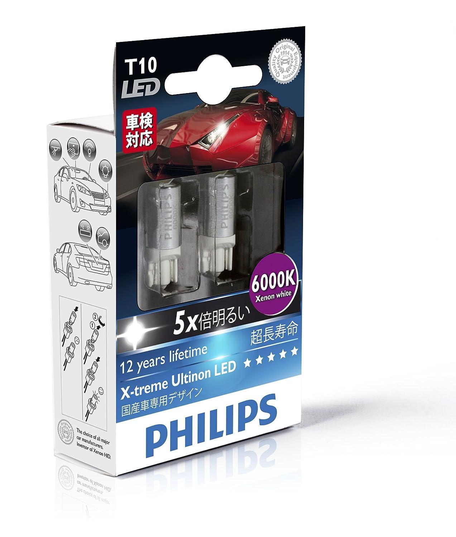 Philips 129666000KX2 T10 - Bombilla LED W5W de exterior (2 unidades), color azul: Amazon.es: Oficina y papelería