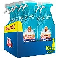 Don Limpio Baño, Detergente en Spray, 7.2 L (10 x 720 ml), Elimina el 100 % de los Restos de Jabón, Aroma Fresco, Mega…