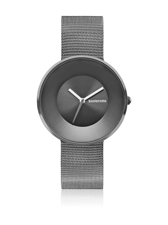 Lambretta Cielo Mesh Graphite Edelstahl IP Graphit Stahlnetz Damen Uhr
