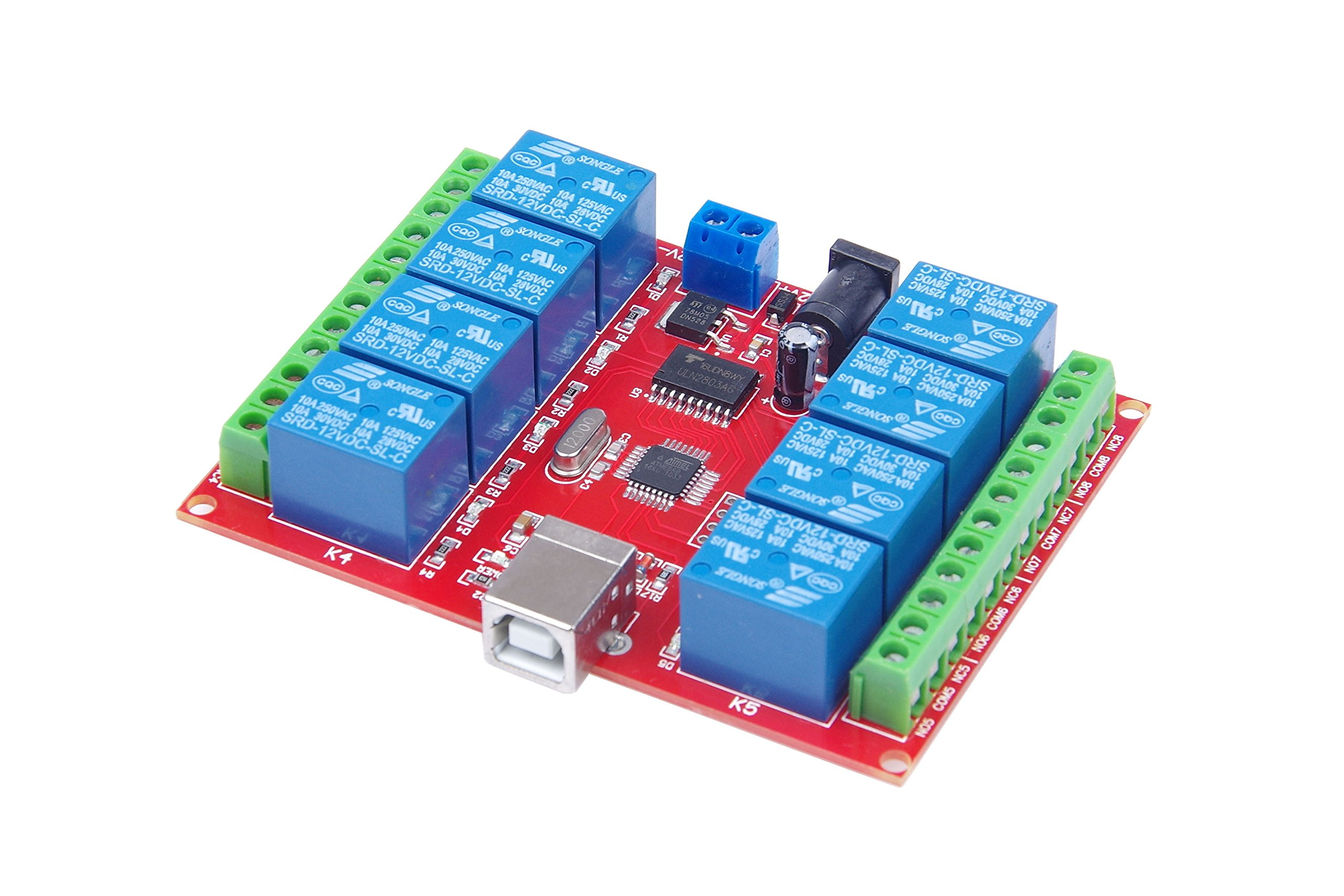 KNACRO 12v 8 Channel USB Relay Module Programmable Computer Control omputer USB control switch/driver/PC Intelligent Controller