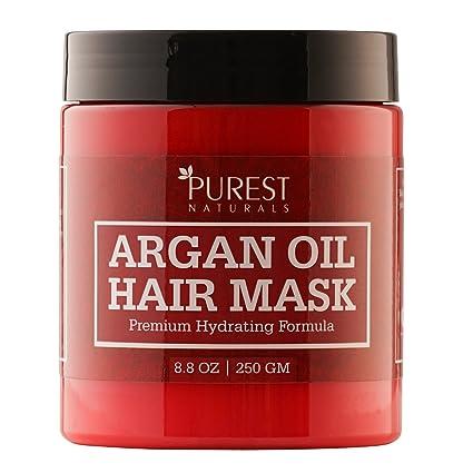 Más Puro Naturals – Hidratante Mascarilla de pelo con aceite de argán – mejor Deep Acondicionador