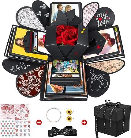Baozun Caja Sorpresa Creativa Explosion Box DIY Regalo Scrapbook y álbum de Fotos Caja de Regalo como Regalo de cumpleaños sobre el Amor, Sorpresa para Abrir: Amazon.es: Hogar