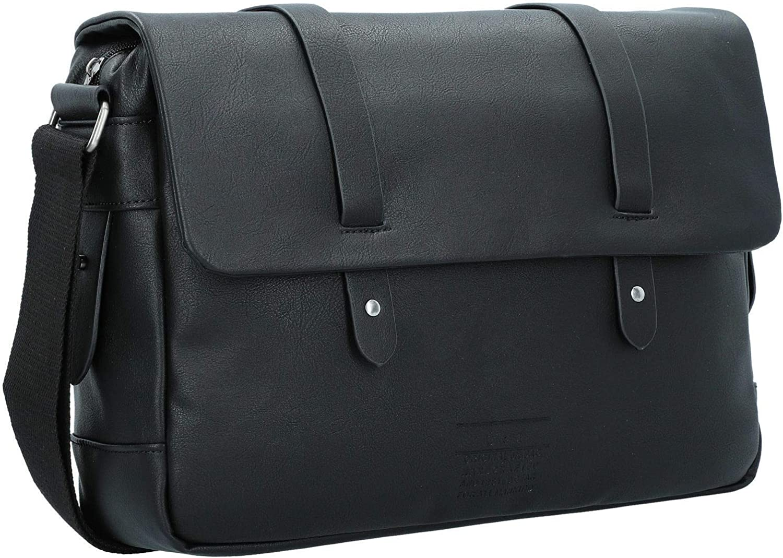 Jaiconfiance Men Leather Briefcase Business Mens Briefcase Leather 14 Laptop Business Tote Retro Tote Men Vintage Leather Messenger Bag Color : Gray