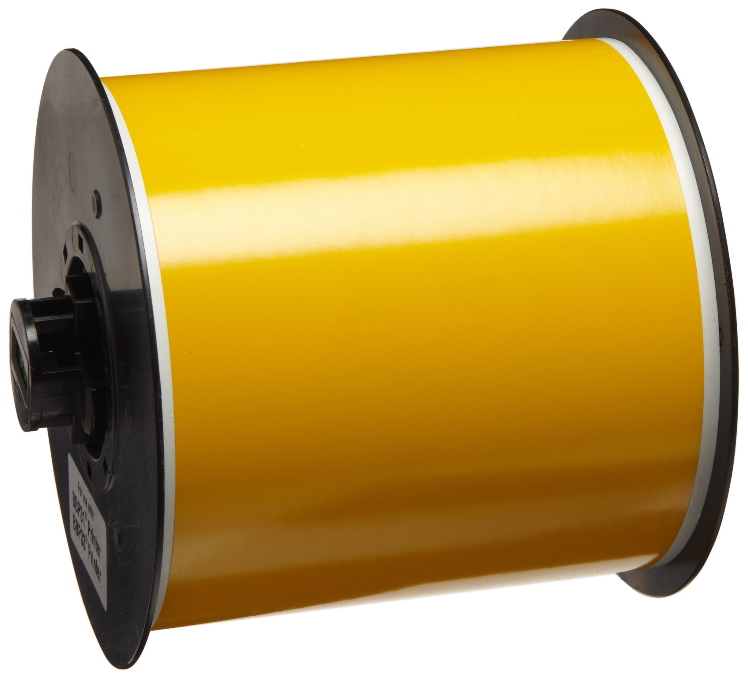 Brady High Adhesion Vinyl Label Tape (B30C-4000-595-YL) - Yellow Vinyl Film - Compatible with BMP30, BBP31, BBP35, and BBP37 Label Printers - 100' Length, 4'' Width
