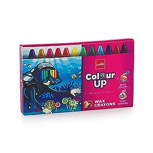 Cello ColourUp Wax Crayons - 12 Shades