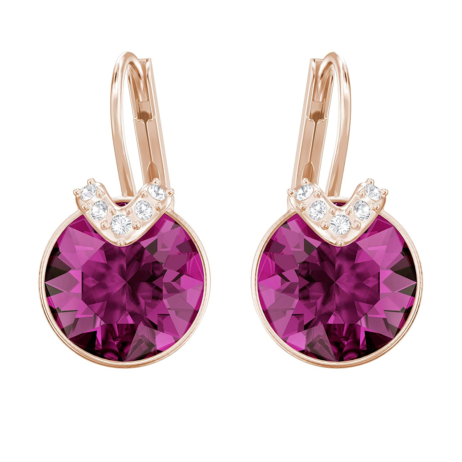 5fd26ae9b5c994 Swarovski Bella V Pierced Earrings, Fuchsia, Rose gold plating:  Amazon.co.uk: Jewellery
