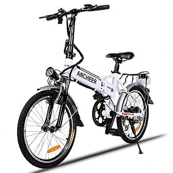 """Ancheer Vélo Eectrique Pliable 20"""" VTT E-Vélo 36V 250W Grande Capacité Pedelec avec"""