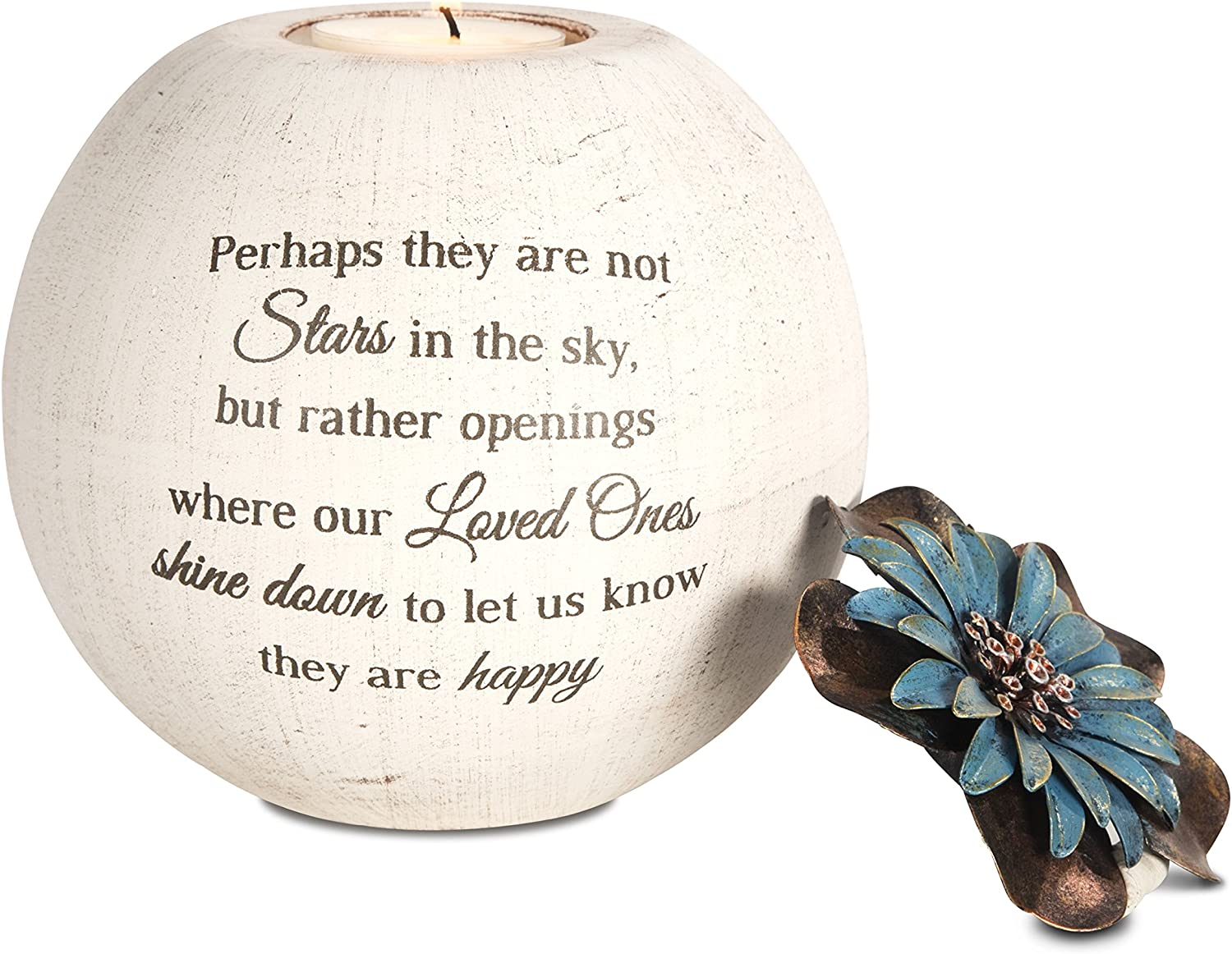 Pavilion Gift Company 19095 Stars in The Sky Candle Holder, 5-Inch, Terra Cotta